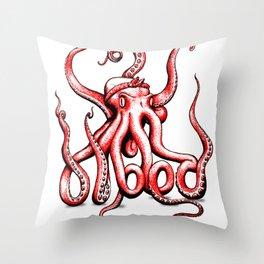 Gangster Octopus Throw Pillow