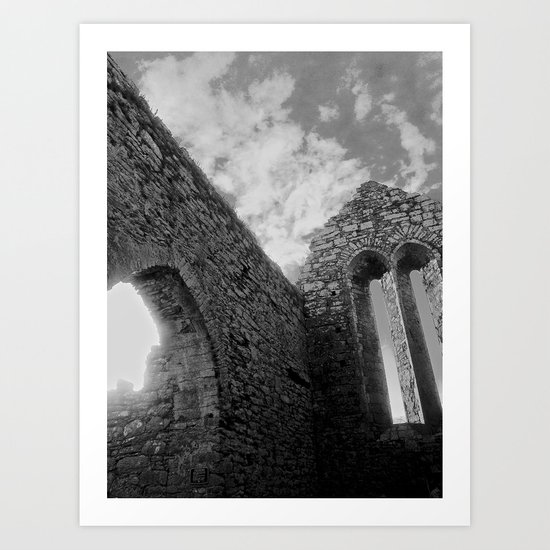 Corcomeroe Abbey Arch Art Print