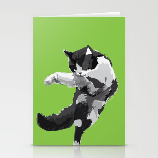 Dancing Cat Stationery Cards