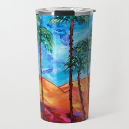 California Palm Trees Travel Mug