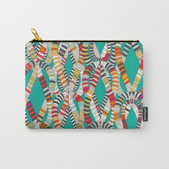 knot drop turquoise Carry-All Pouch