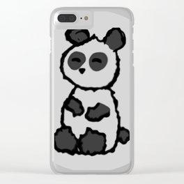 I am a panda. Clear iPhone Case