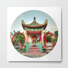 Female Buddha #2 (Circle) Metal Print