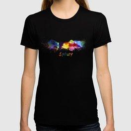 Sydney skyline in watercolor T-shirt
