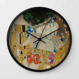 Gustav Klimt - The Kiss (detail) Wall Clock