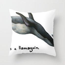 Llamaguin Throw Pillow