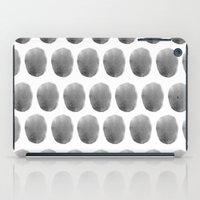 polkadot iPad Cases featuring Watercolour polkadot black by Mouseblossom