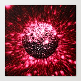 Coming to A Galaxy Near You Red Canvas Print