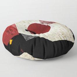 Zen Ensō Circle with Kanji Potential Floor Pillow