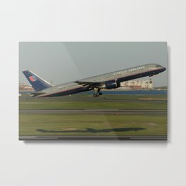 United Airlines B757-200 Takeoff Metal Print