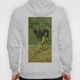 Vintage Parisian Green Fairy Absinthe Alcoholic Aperitif Advertisement Poster Hoody