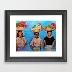 Selling Flowers Framed Art Print