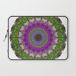 Soft Light - Kaliedescope Mandala By Sharon Cummings Laptop Sleeve
