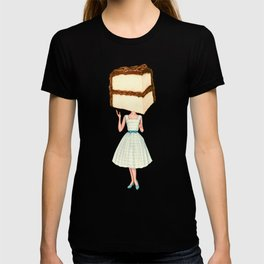 Cake Head Pin-Up - Chocolate T-shirt