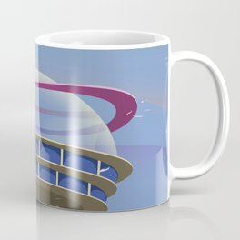 Fly to the Future retro poster Coffee Mug
