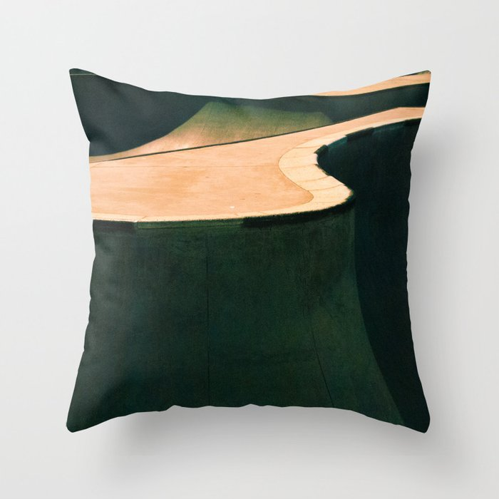 Concrete & Curves Throw Pillow