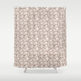 Happy Leaping Pugs in brown! Shower Curtain