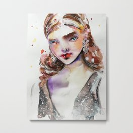 Fashion girl 2 Metal Print