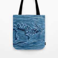 warcraft Tote Bags featuring Wind Dragon by BevyArt