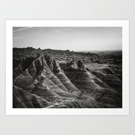 Desert Badlands Wasteland Art Print