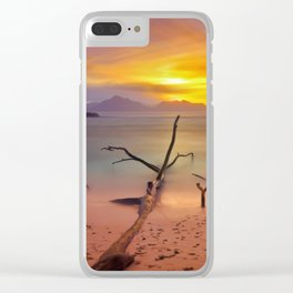 time painted Clear iPhone Case