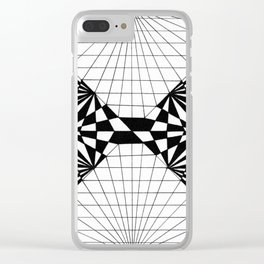 Abstract butterfly on perspective grid Clear iPhone Case