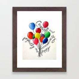 completely and perfectly and incandescently happy Framed Art Print