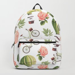 Bicycles Roses and Balloons Backpack