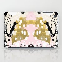 coachella iPad Cases featuring Simone - abstract painting gold foil trendy hipster pastel pink modern trendy colors decor college by CharlotteWinter