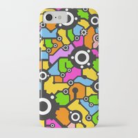 technology iPhone & iPod Cases featuring Technology background by Savgraf