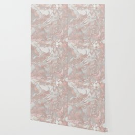 French polished rose gold marble Wallpaper