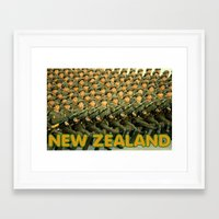 new zealand Framed Art Prints featuring New Zealand by Tyler Hines