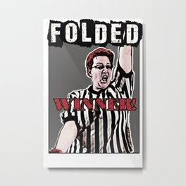 "Folded ""Winner!"" Logo Metal Print"
