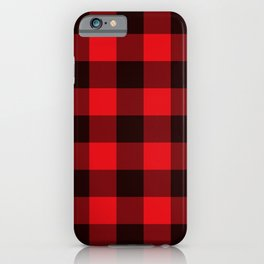 Red Lumberjack Pattern  iPhone Case