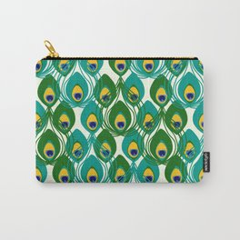 Abstract Peacock Pattern Carry-All Pouch