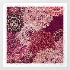 Terra Rose Mandalas Art Print
