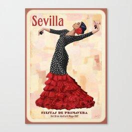 Seville April Fair Canvas Print