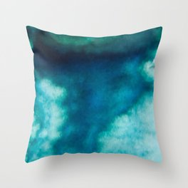 Blue Whirlwind Throw Pillow