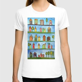 Postage Stamp Houses T-shirt