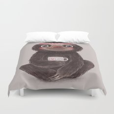 Sloth I♥lazy Duvet Cover
