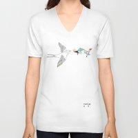 wesley bird V-neck T-shirts featuring bird by Belén Segarra