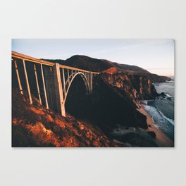 Sunburnt Bixby Bridge - Big Sur, California Canvas Print