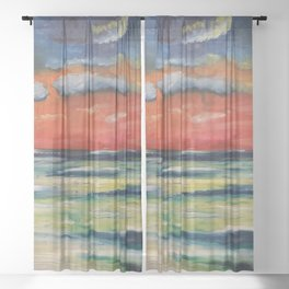 Letting Go Sheer Curtain