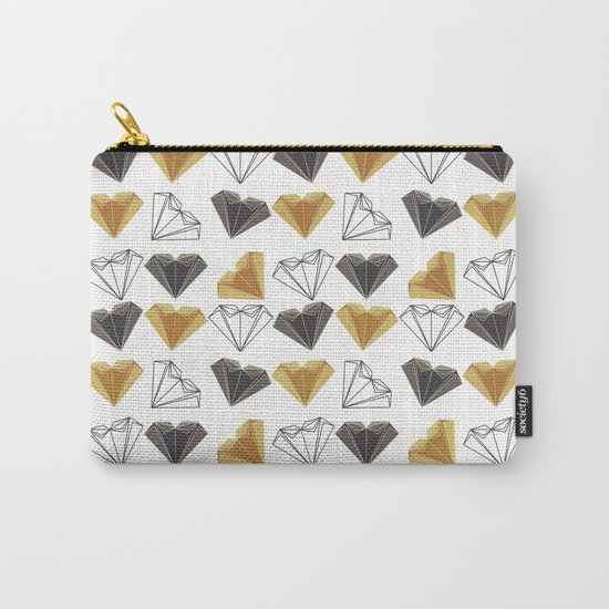 A heart is made of ... paper, scissors, rock  Carry-All Pouch