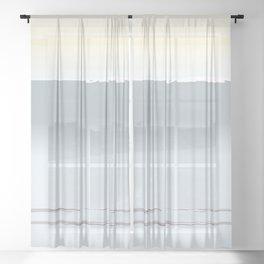 Abstract Horizon Sheer Curtain