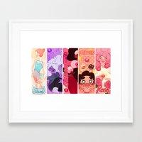 steven universe Framed Art Prints featuring Steven Universe  by kuma naru