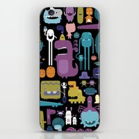 monsters iPhone & iPod Skins featuring MONSTERS by Piktorama