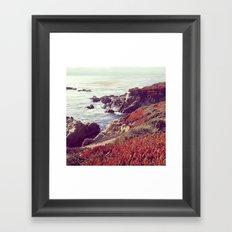 Ice Plants and Big Sur Framed Art Print