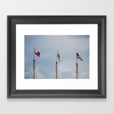 flags Framed Art Print