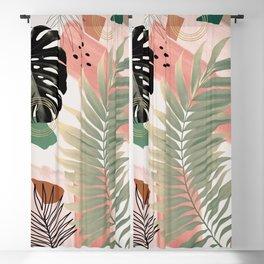Palm Leaf Summer Glam #1 #tropical #decor #art #society6 Blackout Curtain